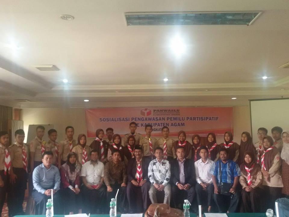 SMAN 1 Ampek Angkek ikuti Sosialisasi Pengawasan Pemilu Parsitipatif se Kabupaten Agam