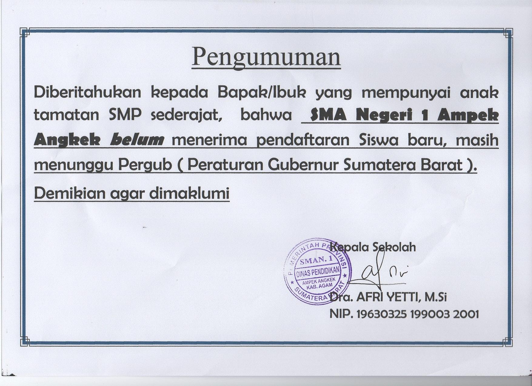 Info Peserta Didik Baru (PPDB) TP. 2019/2020