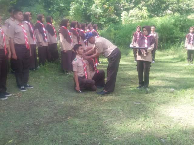 Pramuka SMAN 1 Ampek Angkek Mengadakan Pelantikan Bantara Tahun Pelajaran 2017/2018