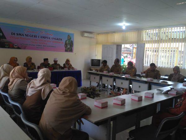 Pemerintah Kabupaten Tanah Datar Berkunjung Ke SMAN 1 Ampek Angkek di Bidang Sekolah Sehat
